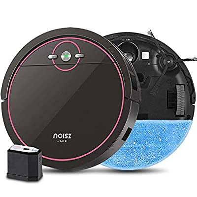 Noisz by ILIFE S5 Pro, 2-in-1 Mopping, Robot Vacuum, with ElectroWall, Automatic Self-Charging, MAX Mode, Water Tank, Tangle-Free, Quiet, Ideal for Pet Care, Hard Floor and Low Pile Carpet. (Renewed)