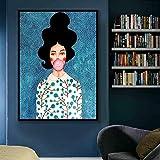 NIMCG Personnage coloré Art modèle Toile réplique Affiche Imprimer Art déco Image pour Salon Chambre (sans Cadre) A4 40x50CM