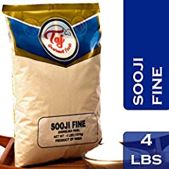 TAJ Gourmet Foods provides the best of quality. We stand behind our product when it comes to quality and satisfaction. Sooji Fine is granulated wheat Net Weight: 4-Pounds