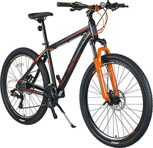 KRON XC-150 Aluminium Mountainbike 27.5 Zoll   24 Gang Shimano Kettenschaltung, Hydraulische Shimano Scheibenbremse, Lockout Gabel   18 Zoll Rahmen Erwachsenen- Jugendfahrrad   Schwarz & Grün
