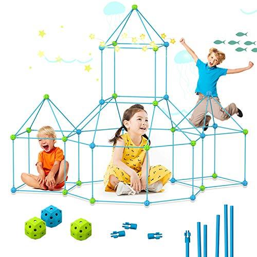 YSD Kit de construcción creativo para niños, 85 piezas de juguetes de construcción STEM DIY edificio interior y exterior casa de juegos tienda de campaña, juguetes de túnel castillo para niños de 3 a 12 años