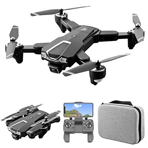 GoolRC LS-25 GPS Drone with Dual Camera, 5G WiFi FPV Drone with 4K HD Front Camera and 1080P Bottom Camera, RC Quadcopter with Optical Flow Positioning, Headless Mode, Follow Me and Storage Bag