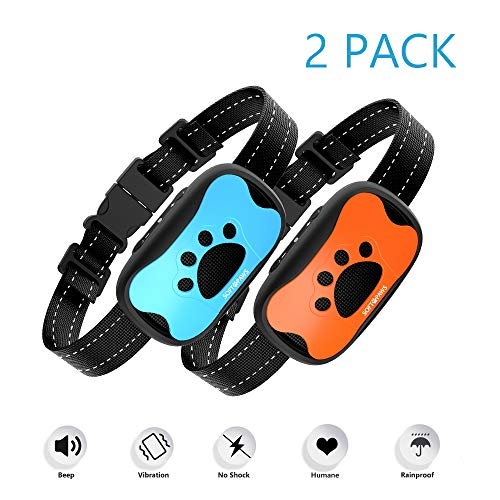 Soft Paws - Two-Pack - Dog Training - Safe No-Shock Bark Collar - 7 Vibration Settings and Sound for Medium and Large Dogs - Absolute Best Value
