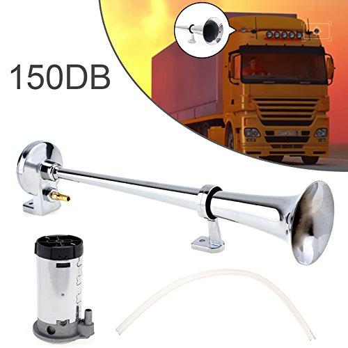 43,2 cm 150db Super Loud 12 V Unique Trompette Air Horn kit Compresseur pour voitures/camions/bateaux/motos/Véhicules