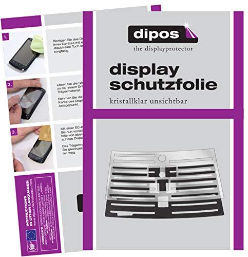 dipos 2 x przezroczysta folia ochronna kompatybilna z Philips EP3551/00 z tacą ociekową I w pełni automatycznymi ekspresami do kawy I ociekacz I kratka kompatybilna z ekspresem do kawy