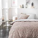 Today - Parure da letto per 2 persone, 240 x 260 cm, in cotone stampato, colore: rosa