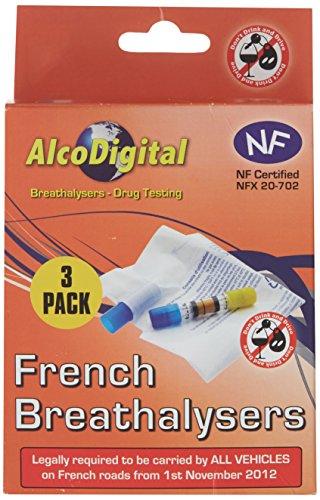 AlcoDigital Ltd Triple Pack French NF Approved Breathalyzer Kit, Set of 3
