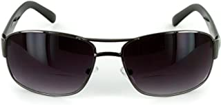 The Top Gun Unisex Aviator Tinted Bifocal Sunglasses for Men and Women +1.00 Black (Carrying Case Included)