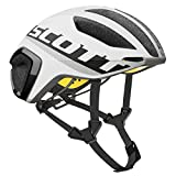Scott Cadence Plus - Casco de bicicleta para triatlón, color blanco y negro