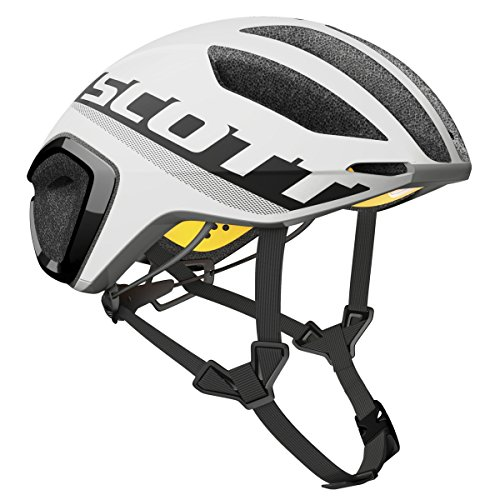 Scott Cadence Plus - Casco de bicicleta para triatlón, color blanco y...