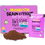 Instant Mushroom Coffee with Lions Mane and Cordyceps Mix for Brain Memory Focus Concentration Energy Booster Shroomzup Arabica Robusta Powder Paleo Vegan Gluten Free Natural Vitamins 15 Pack