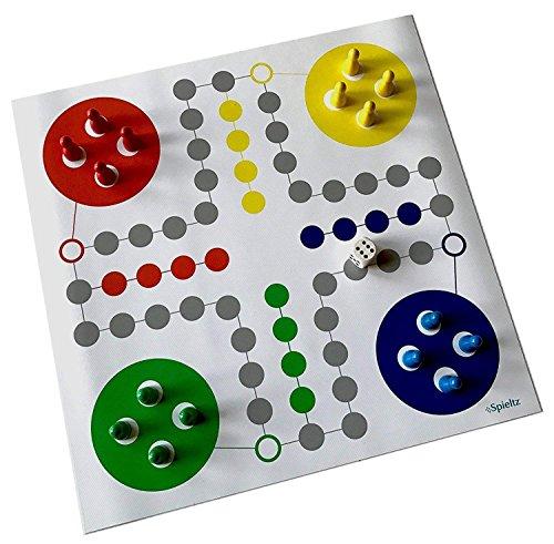 Spieltz 51811: Ludo Reisespiel / Reise-Ludo - Rollbares Spiel, Spielplan auf LKW-Plane, abwaschbar und robust