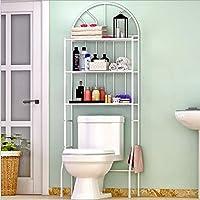 Estantería de baño y WC, mueble de poner anteriormente AL inodoro, estantería para ahorrar Espacio 3 estantes con estantes organizador, 176 X 62 x 33 cm