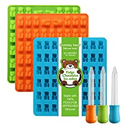 top 10 gummy bear molds The latest generation of Lizber – a 3-pack silicone candy mold in the shape of a gummy bear with 53 cavities, and 3 more …