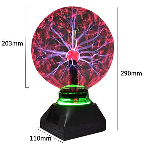 LANKOULI Kristall Plasma Ball Nachtlicht 4/5/6/8 Zoll alle auf Lager Magic Glass Sphere Neuheit Lightning Ball Light Plasma Tischlampe-4 Zoll