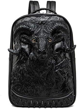 Halloween Studded Backpack 3D Goat Head Sculpture 3D Model Backpack Laptop Computer Handbags product image