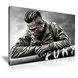 Fury Brad Pitt Poster Kunstdruck auf Leinwand, 76 x 50 cm