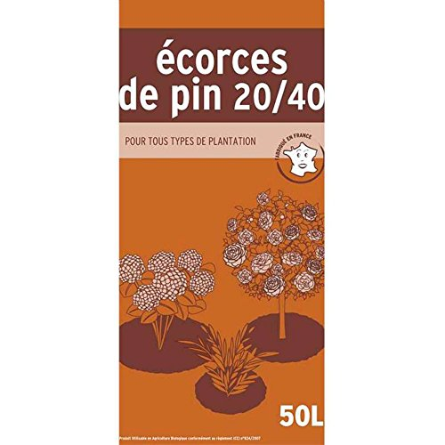 ALGOFLASH NATURASOL Sac de Ecorces de pin, Utilisable en agriculture biologique, Prêt à lemploi, 50 L, NNPIN50