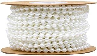 Cordão de pérolas de pérolas artificiais da Heallily Pearls com cordão de pérola para joias de artesanato faça você mesmo,...