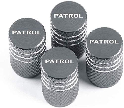 4 Piezas Tapas para válvulas de neumáticos,Válvula de Neumáticos Tapones de válvula Para Nissan Patrol,impermeable Auto decoración Accesorios