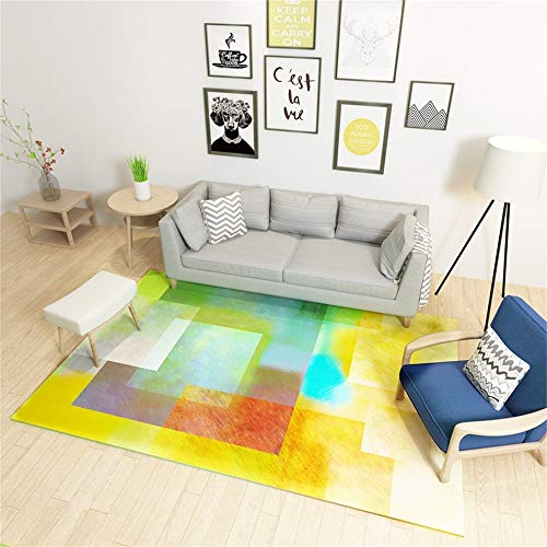 Decoratief vloerkleed, Nordic modern, eenvoudig, abstracte persoonlijkheid, geometrisch tapijt, woonkamer, salontafel, slaapbank, nachtkastje, tapijt, heeft 7 maten, 140 x 190 cm vloermat uit de plank 120*180CM