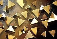HD10x7ftモダンな背景インテリア黄金の三角ピラミッド写真の背景家と家のデザイン子供の誕生日ベビーシャワー芸術的な肖像画写真撮影の小道具の壁紙