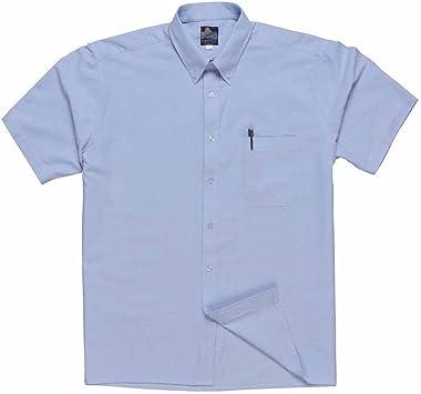 Portwest S108 - Camisa Oxford manga corta, color Azul, talla ...