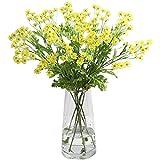 flor falsa Margarita simulación flor flor de seda decoración plástica moda casa sala de estar dormitorio decoración artificial flor porche flor decoración de flores falsas ( Color : Yellow )