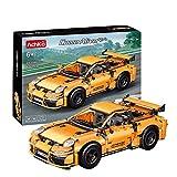 Technic Coche deportivo naranja, 956 Piezas Super Sports Car Exclusivo Juego De Construcción De Modelos Coleccionables Compatible Con Lego,Apto para niños mayores de 8 años Static,28 * 12 * 8.5cm