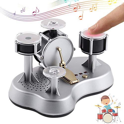 Tenlso Mini-Schlagzeug, Finger Drum Set Desktop-Miniatur-Repliken mit Aufnahme-Design - Mini Electronic Instrument Toy Geschenk für Kinder und Musikfans