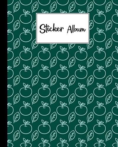 Sticker Album: Apple Sticker Album, Blank Sticker Book / My Cool Sticker Book, 120 Pages, Size 8