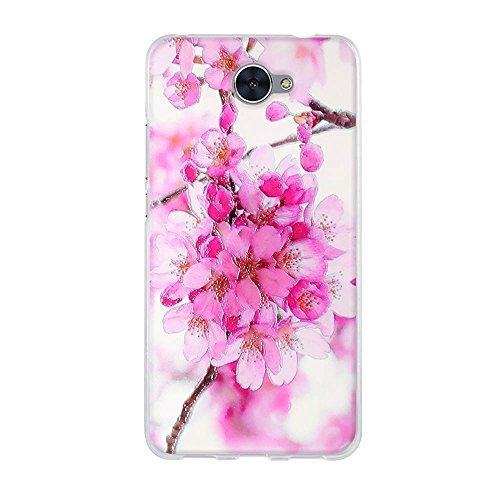 fubaoda,Premium Hülle für Huawei Y7,Transparente & Feine TPU Silikon-Schutz,Schöne Blumenzeichnung,Hochwertiger Schutz mit Herausragendem Design Handyhülle für Huawei Y7 (5.5
