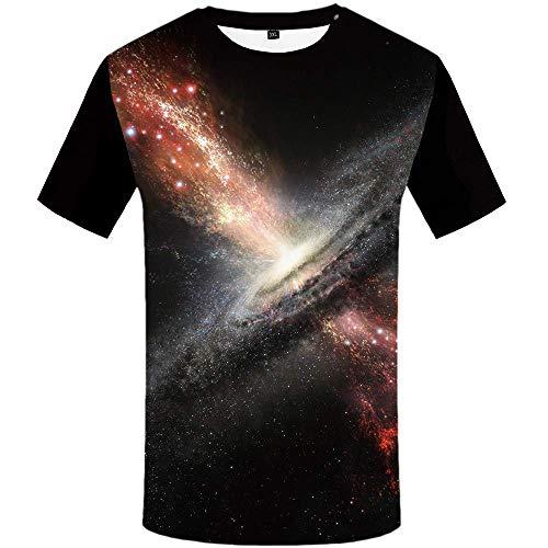 Galaxy T Shirt Universe T-Shirt Space T Shirts for Men Nebula Tshirts 3D Tee Galaxy T-Shirt XL