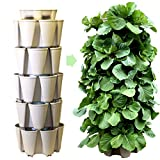 GreenStalk Patented Large 5 Tier Vertical Garden Planter with Patented Internal Watering System...