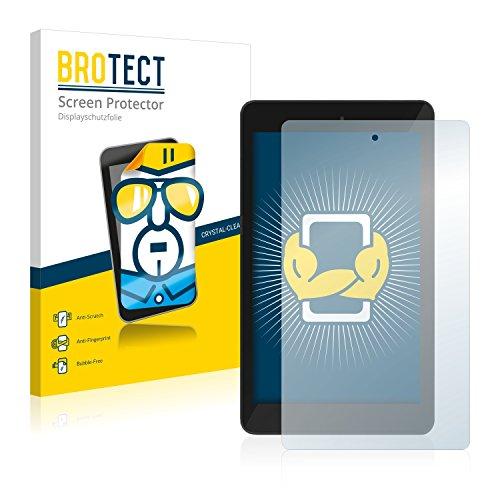 BROTECT Schutzfolie kompatibel mit TrekStor SurfTab xintron i 7.0 (2 Stück) klare Bildschirmschutz-Folie