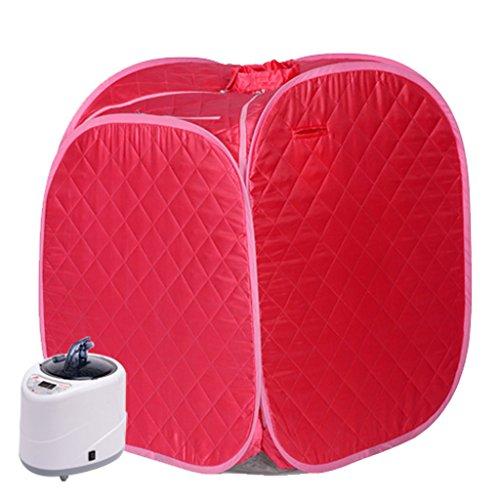 Sauna Infrarouge/Portable, Sauna Mobile Accueil/Cabine de Chauffage Infrarouge (Couleur : Rouge)