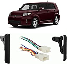 Compatible with Scion xB 2004-2015 Double DIN Aftermarket Stereo Harness Radio Install Dash Kit