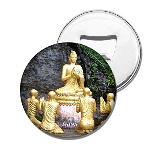 Weekino Laos Buddha Gold Bier Flaschenöffner Kühlschrank Magnet Metall Souvenir Reise Gift