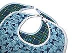 Trifecta Linens 2 Pack - Babero Adulto - Large Extra Long, Reutilizable Lavable...