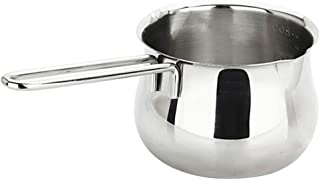 Baosity Stainless Steel Milk Pot Butter Warmer Pan Small Saucepan with Pour Spouts