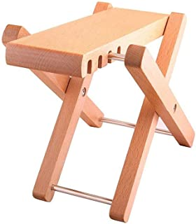 "Timiy Solid Wood Guitar FootStools Adjustable 4 Levels Professional Folding Wood Footstool Pedal Adjustable Footstool from 5"" up to 8.5"",For Classical Acoustic Guitar Foot Rest"