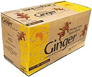 [ INFUSION 100% JENGIBRE ] Set de 2 cajas de infusión con jengibre 100% natural | La magia del rizoma del jengibre! | 2 x 25 sobres de 1.6g