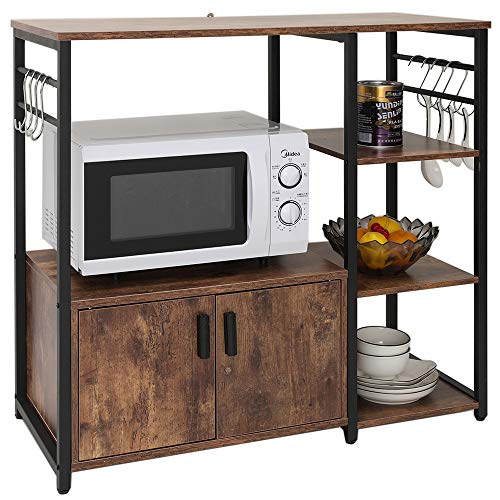 Best Choice Products Multiuse 5-Tier Metal Kitchen Bakers Rack, Cappuccino