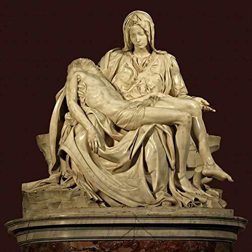 Pietá (1499) de Michelangelo - 75x75 - Tela Canvas Para Quadro