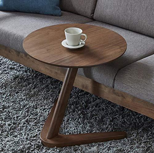 Nachtkastje LKU Bijzettafel meubelen woonkamer ronde salontafel klein nachtkastje salontafel salontafel eenvoudig, donker hout kleur