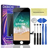 OKBICHI Ecran Tactile LCD de Remplacement pour iPhone 7 (4,7') Kit d'écran en Verre démontage de Rechange Assemblage de Cadre numérique Outil de Remplacement de Conversion Complet (Noir)