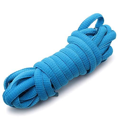 rismart Ovalado Atletismo Zapatos Cordones - 6 mm La mitad Redondo - Ideal para correr, Baloncesto Zapatos and Zapatillas moda P09(Cielo azul,100 cm (1 par))