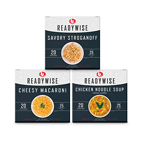 ReadyWise Emergency Food Entree Box Kit | 60 Servings