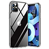 TORRAS Diamond Clear Case for iPhone 11 Case, Anti-Yellowing Military Grade Drop Protective Shockproof Slim Hard Back with Soft TPU Bumper Hybrid Cover Case for iPhone 11 (6.1 inch)- Full Clear