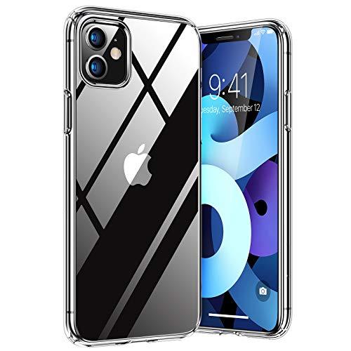 TORRAS Diamond Series Kompatibel mit iPhone 11 Hülle Durchsichtig Handyhülle Hard PC Back und Soft Silikon Bumper Case - Transparent